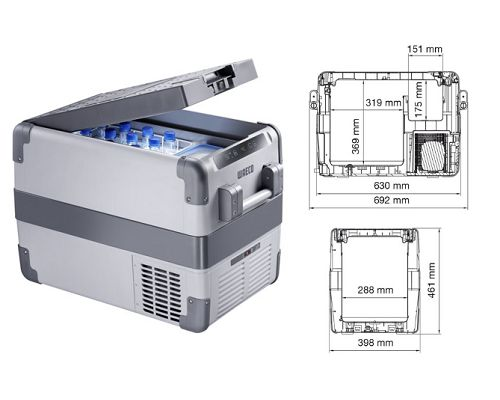 Dometic-Waeco Portable fridge/freezer -22°C to + 10° CFX 40
