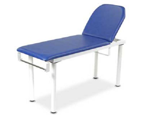 Fixed Height Examination Couch - Two Section Blue