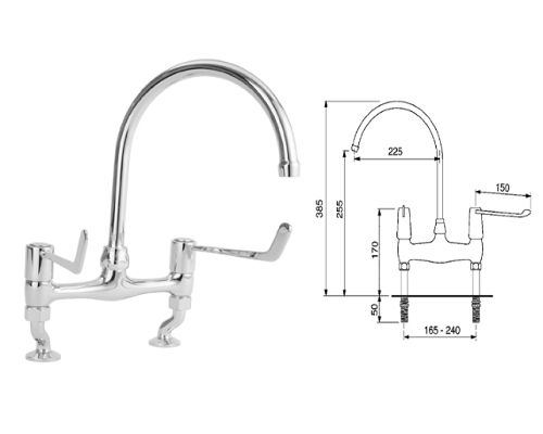 Franke Sissons 13mm Lever operated mixer tap