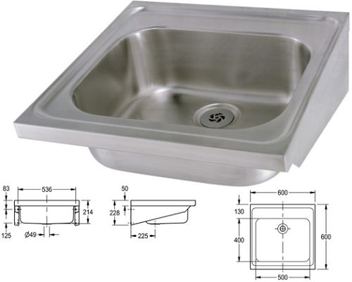 Franke Sissons Single bowl MEDICAL sink no tapholes