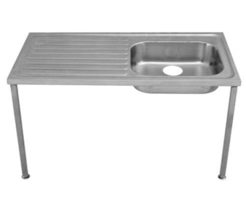 Franke Sissons Single bowl Hospital sink with legs 1200mm LH