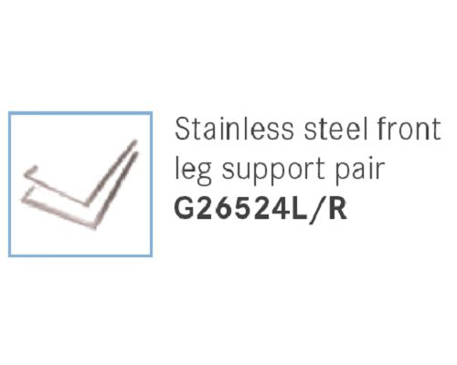 Franke Sissons Stainless steel front leg support pair G26524L/R