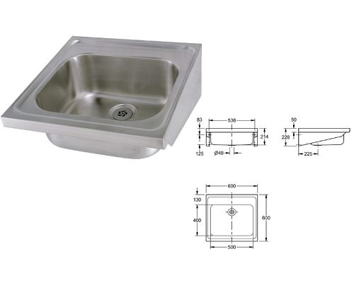 Franke Sissons Single bowl Hospital sink G22002N
