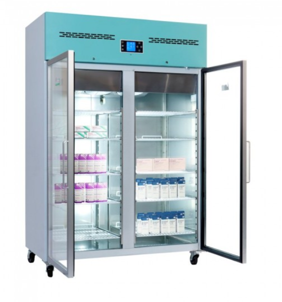 Lec PGR1200UK - 1200 Litre Large Capacity Pharmacy Fridge - Glas