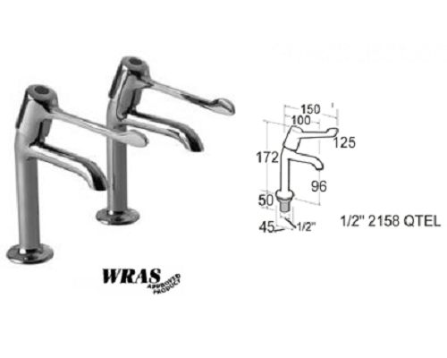 "Mechline Pegler 6-in lever Sink taps 1/2"" Pair"