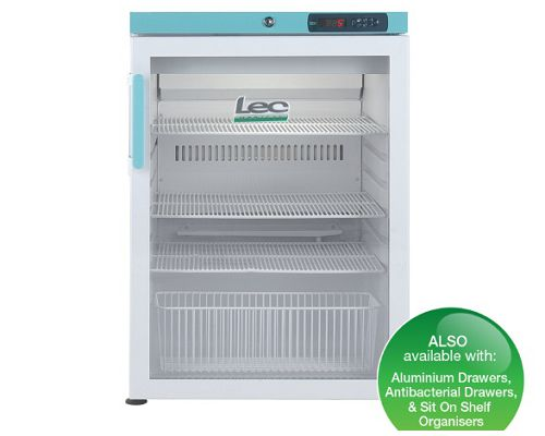 Lec PGR151UK Under-counter Pharmacy Refrigerator 141L Glass Door