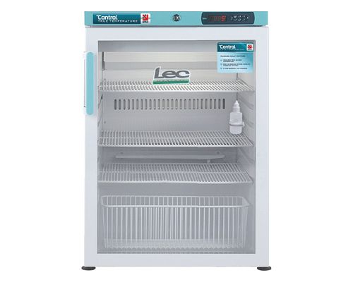 Lec PGRC151UK Pharmacy Fridge Glass Door 141L