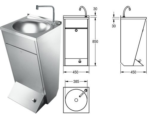 Franke Sissons Wash basin LP21 with foot operation